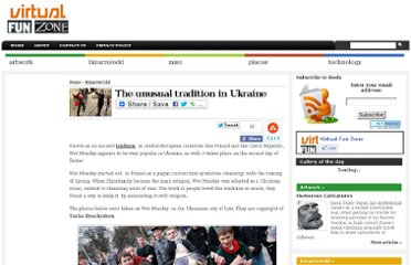 http://virtualfunzone.com/the-unusual-tradition-in-ukraine.html#1?utm_source=wahoha.com&utm_medium=referral&utm_campaign=wahoha