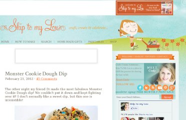 http://www.skiptomylou.org/2012/02/21/monster-cookie-dough-dip/
