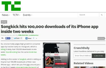 http://techcrunch.com/2011/06/22/songkick-hits-100000-downloads-of-its-iphone-app-inside-two-weeks/