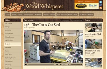 http://www.thewoodwhisperer.com/videos/the-cross-cut-sled/