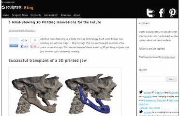 http://blog.sculpteo.com/2012/02/27/5-mind-blowing-3d-printing-innovations-for-the-future/