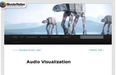 http://www.blendernation.com/2011/12/29/audio-visualization/
