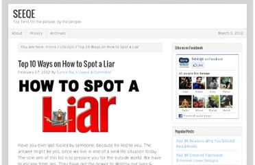 http://seeqe.com/how-to-spot-a-liar/