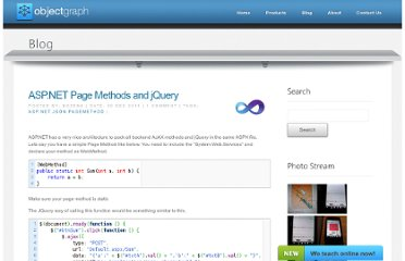 http://blog.objectgraph.com/index.php/2011/12/30/asp-net-page-methods-and-jquery/