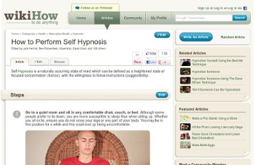 http://www.wikihow.com/Perform-Self-Hypnosis