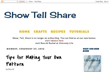 http://showtellshare.blogspot.com/2012/02/tips-for-making-your-own-pattern.html
