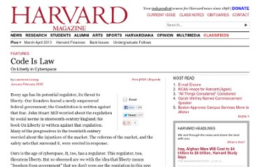 http://harvardmagazine.com/2000/01/code-is-law-html