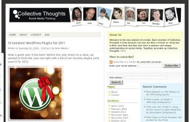 http://collective-thoughts.com/2010/12/30/best-wordpress-plugins/