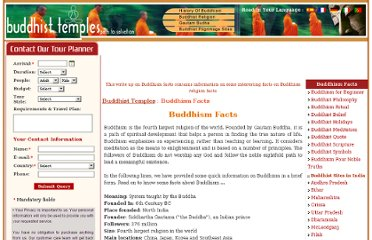 http://www.buddhist-temples.com/buddhism-facts/index.html