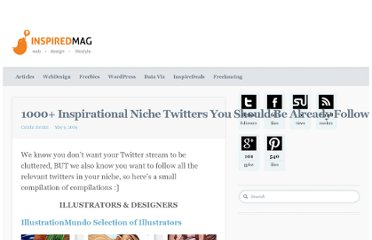 http://inspiredm.com/1000-inspirational-niche-twitters-you-should-be-already-following/
