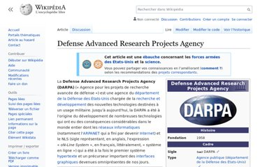 https://fr.wikipedia.org/wiki/Defense_Advanced_Research_Projects_Agency