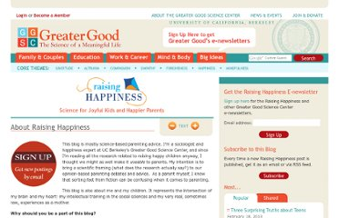 http://greatergood.berkeley.edu/raising_happiness/about