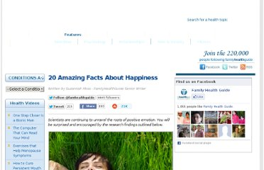 http://www.familyhealthguide.co.uk/20-amazing-facts-about-happiness.html