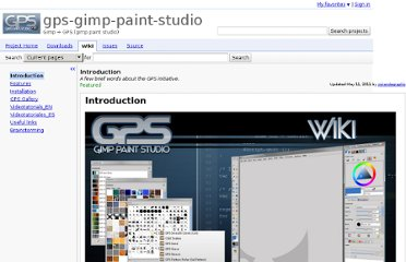 http://code.google.com/p/gps-gimp-paint-studio/wiki/Introduction