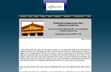 http://www.afjv.com/press0906/090630_qualification_juridique_jeux_video.htm