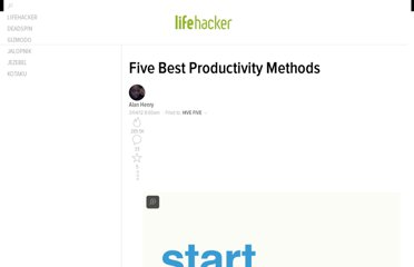 http://lifehacker.com/5890129/five-best-productivity-methods