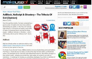 http://www.makeuseof.com/tag/adblock-noscript-ghostery-trifecta-evil-opinion/
