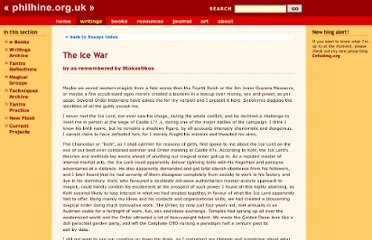 http://www.philhine.org.uk/writings/ess_icewar.html