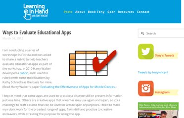 http://learninginhand.com/blog/ways-to-evaluate-educational-apps.html