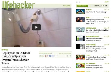 http://lifehacker.com/5890327/repurpose-an-outdoor-irrigation-sprinkler-system-into-a-shower-timer