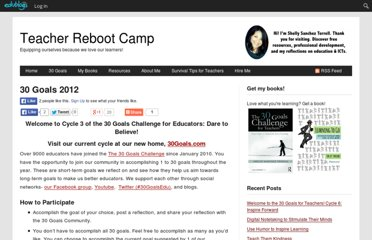 http://teacherbootcamp.edublogs.org/30-goals-2012/