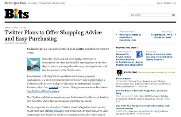 http://bits.blogs.nytimes.com/2009/06/19/twitter-plans-to-offer-shopping-advice-and-easy-purchasing/