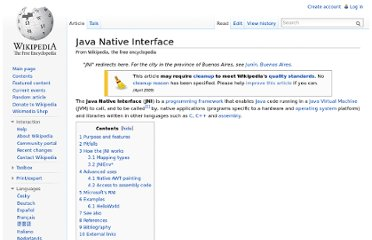 http://en.wikipedia.org/wiki/Java_Native_Interface