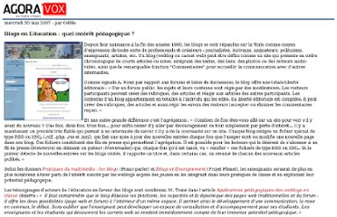 http://mobile.agoravox.fr/actualites/medias/article/blogs-en-education-quel-interet-24977