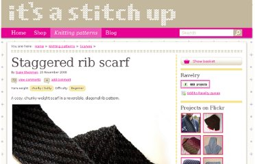 http://itsastitchup.co.uk/knitting-patterns/staggered-rib-scarf/