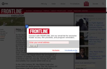 http://www.pbs.org/wgbh/pages/frontline/shows/execution/readings/history.html
