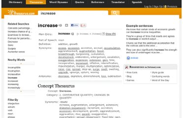http://thesaurus.com/browse/increase