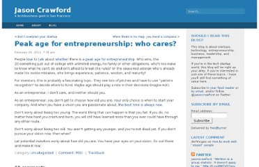 http://jasoncrawford.org/2012/02/peak-age-for-entrepreneurship-who-cares/