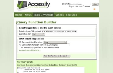 http://accessify.com/tools-and-wizards/developer-tools/jquery-builder/default.php
