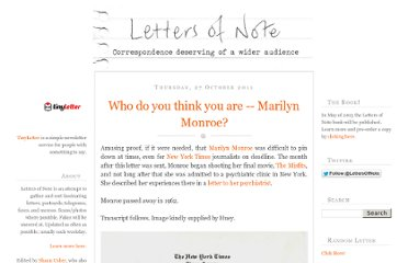 http://www.lettersofnote.com/2011/10/who-do-you-think-you-are-marilyn-monroe.html