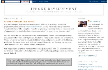 http://iphonedevelopment.blogspot.com/2009/03/version-control-is-your-friend.html