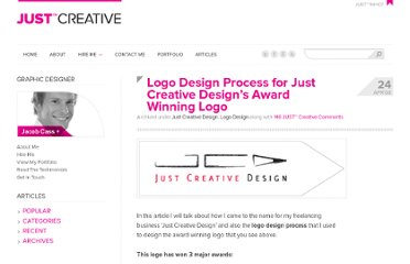 http://justcreative.com/2008/04/24/logo-design-process-of-just-creative-design/