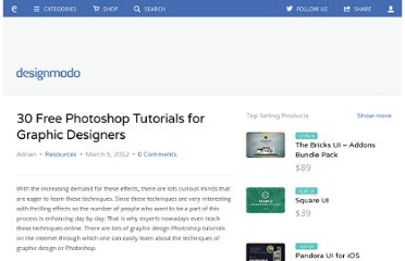 http://designmodo.com/graphic-design-photoshop-tutorials/