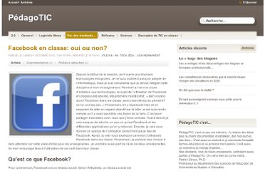 http://pedagotic.uqac.ca/?post/2010/10/11/Facebook-en-classe%3A-oui-ou-non