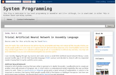 http://syprog.blogspot.com/2012/03/trivial-artificial-neural-network-in.html