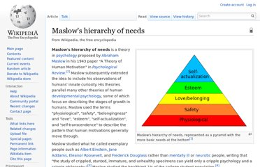 http://en.wikipedia.org/wiki/Maslow%27s_hierarchy_of_needs