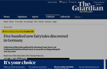 http://www.guardian.co.uk/books/2012/mar/05/five-hundred-fairytales-discovered-germany