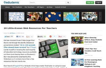 http://edudemic.com/2012/03/20-web-resources/
