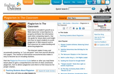 http://www.findingdulcinea.com/guides/Education/In-The-Classroom/Plagiarism-In-The-Classroom.html