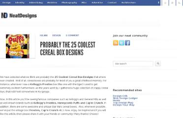http://neatdesigns.net/probably-the-25-coolest-cereal-box-designs/