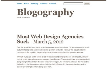 http://www.andybudd.com/archives/2012/03/most_web_design_agencies_suck/