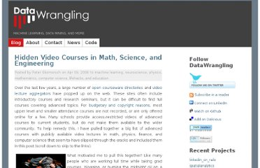 http://www.datawrangling.com/hidden-video-courses-in-math-science-and-engineering