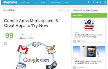 http://mashable.com/2010/03/10/google-marketplace-apps-list/