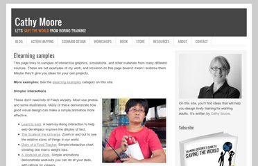 http://blog.cathy-moore.com/resources/elearning-samples/