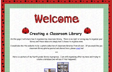http://www.tips-for-teachers.com/classroom_library1.htm#Cataloguing%20Your%20Books