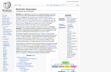 http://en.wikipedia.org/wiki/Nostratic_languages